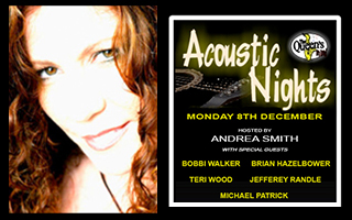 Andrea Smith Host of The Accoustic Night at The Queen's